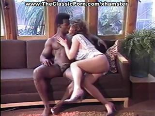classic sex with brunette deep throating a giant