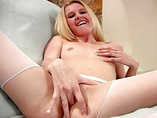 sporty albino prettie with little boobies fist