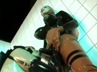 rubber clad homosexual woman sluts are pleasing