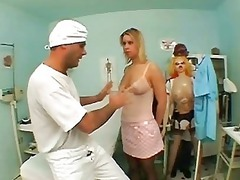 naughty doctor acquiring blowjob by awesome