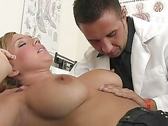 delightful horny blonde patient gets her pussy