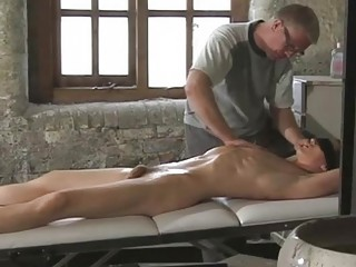 Great looking gay boy gets tied while daddy plays