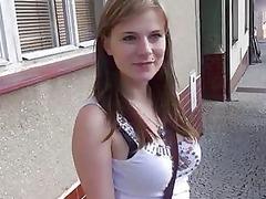 cute attractive breast young pierced inside public