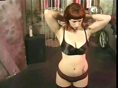 huge breast redhead receives her titties felt by