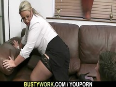 heavy salesgirl is boned from behind