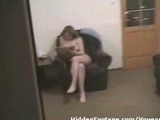 voyeur spies showed lady openair window