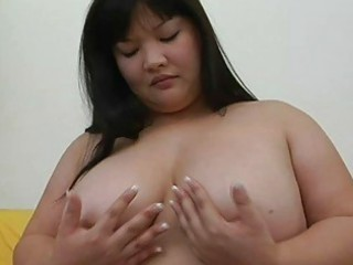 big asian momma with big tits teases with her sex