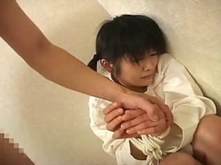 cute japanese teenage tiedtortured and oral