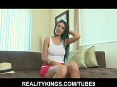 timid latino prettiness likes to play her big